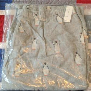 NEW Old Navy Penguin Pajama Pants Bottoms XL